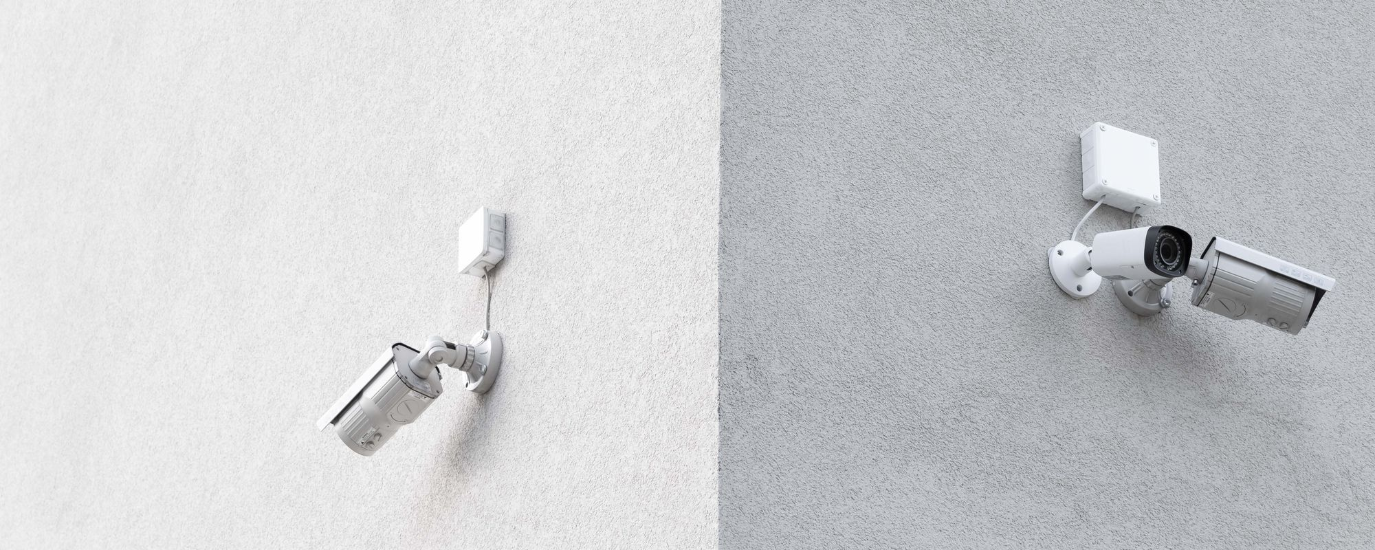 CCTV cameras mounted on wall