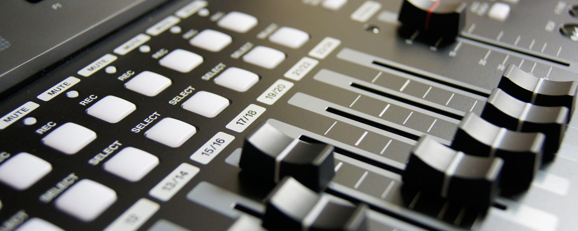 Detaliu audio mixer