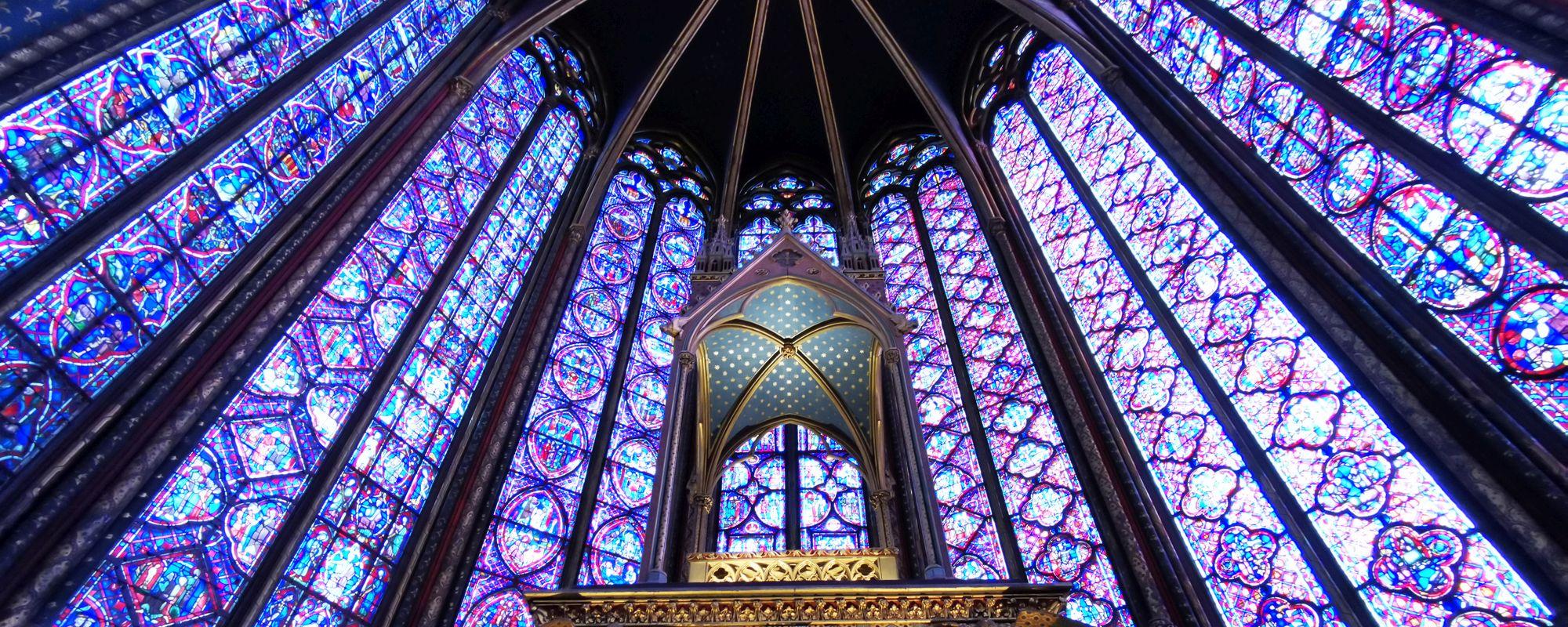 Sainte-Chapelle din Paris. Ce făceau ăia pe la 1200-ish.